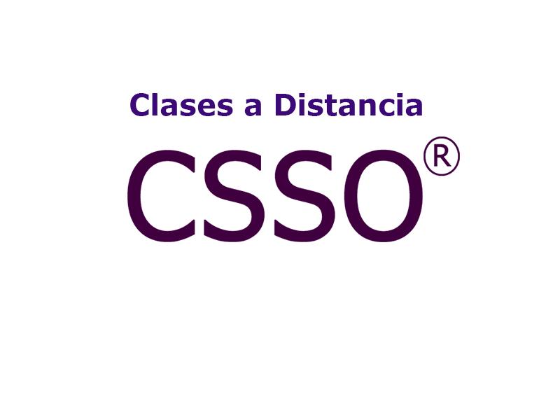 Clases a distancias CSSO