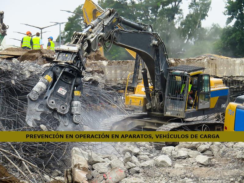 Prevención de Riesgos para Operación de Aparatos Elevadores y Vehículos de Transporte de Carga