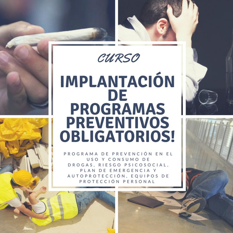 Implantación de programas preventivos obligatorios